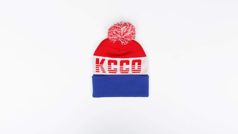 Christmas Gift Ideas for Her - KCCO Snow Bunny Red White and Blue Winter Hat 5c8623b3ec6f