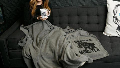 Christmas Gift Ideas for Her - Snuggle Monster Warm Winter Blanket