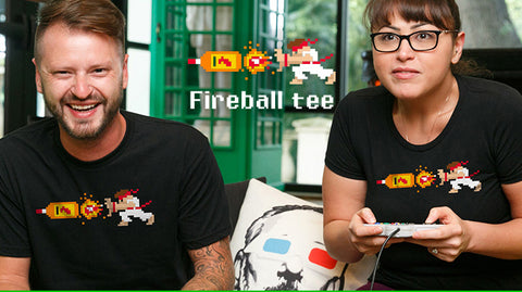 Man Cave Ideas - Game Room - Chive Fireball Tee Ryu