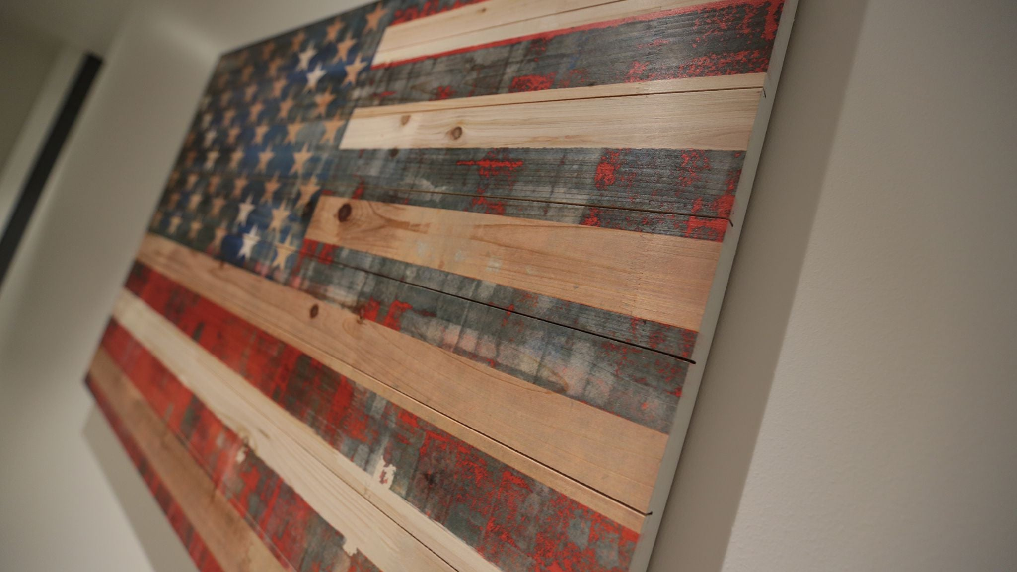 American Dream 30 Quot X 50 Quot Wood Art The Chivery