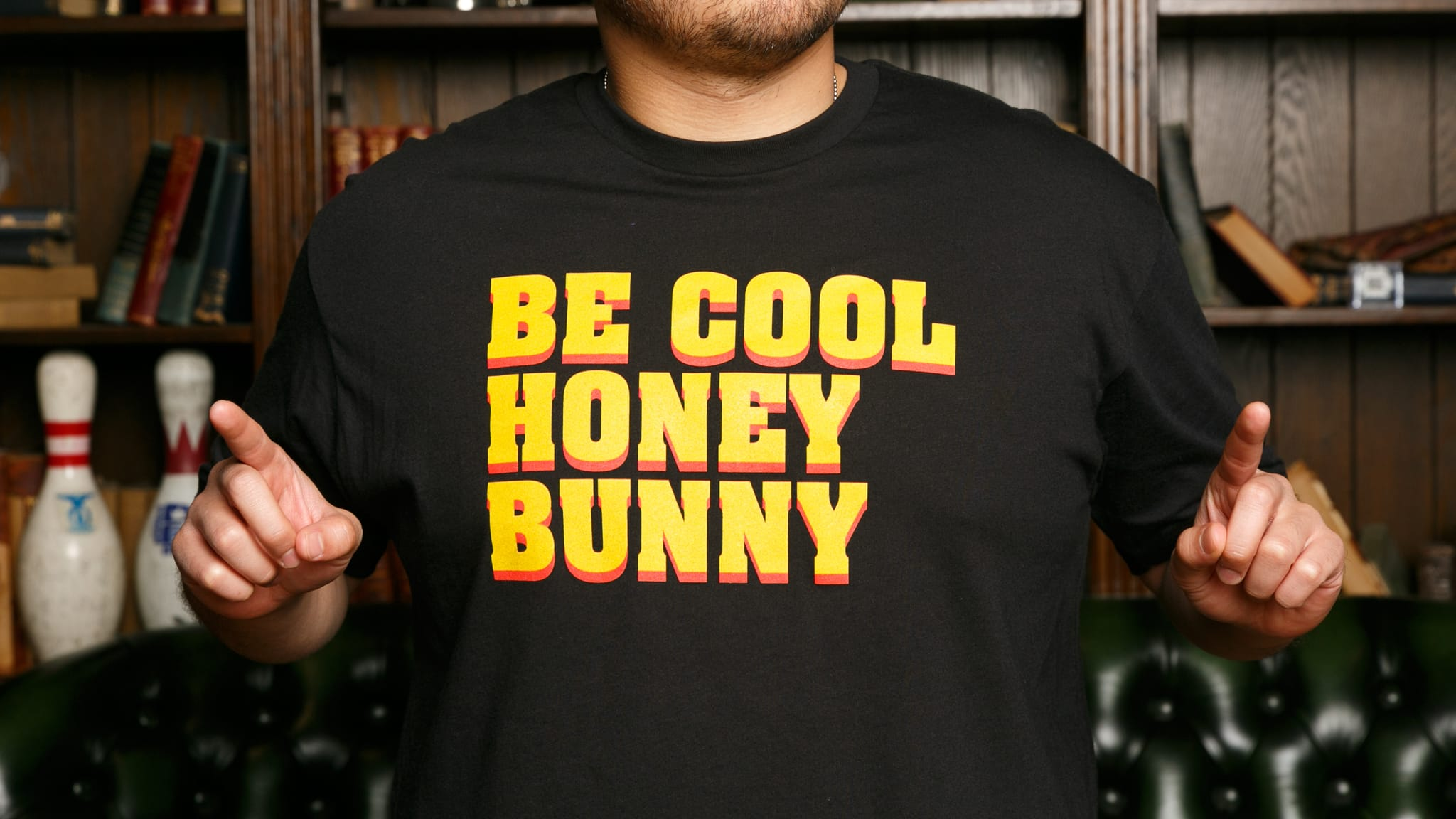 2e5a6c02 Be Cool Hunny Bunny Shirt   Cool Pulp Fiction Shirt   The Chivery