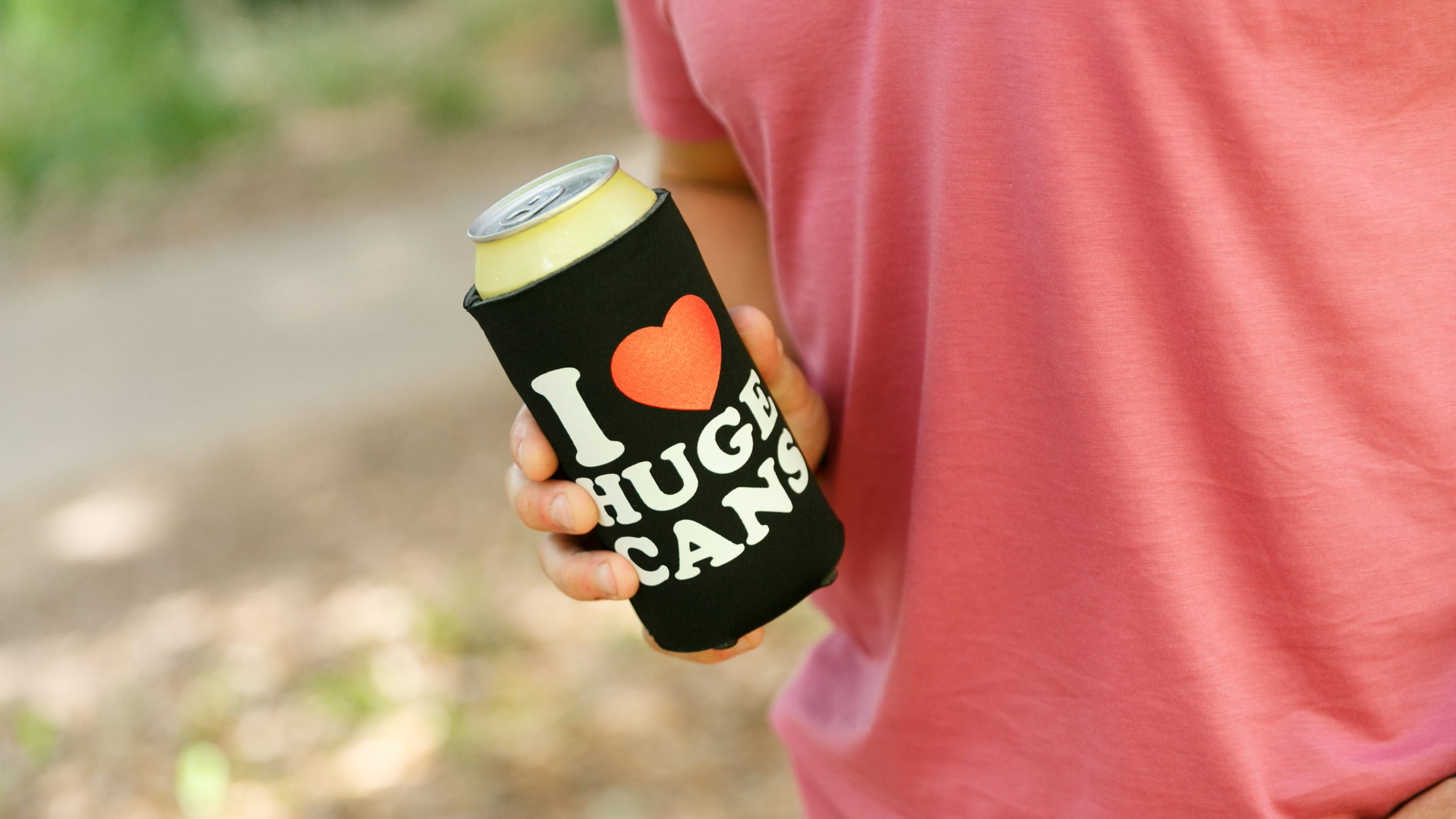 i love huge cans koozie the chivery