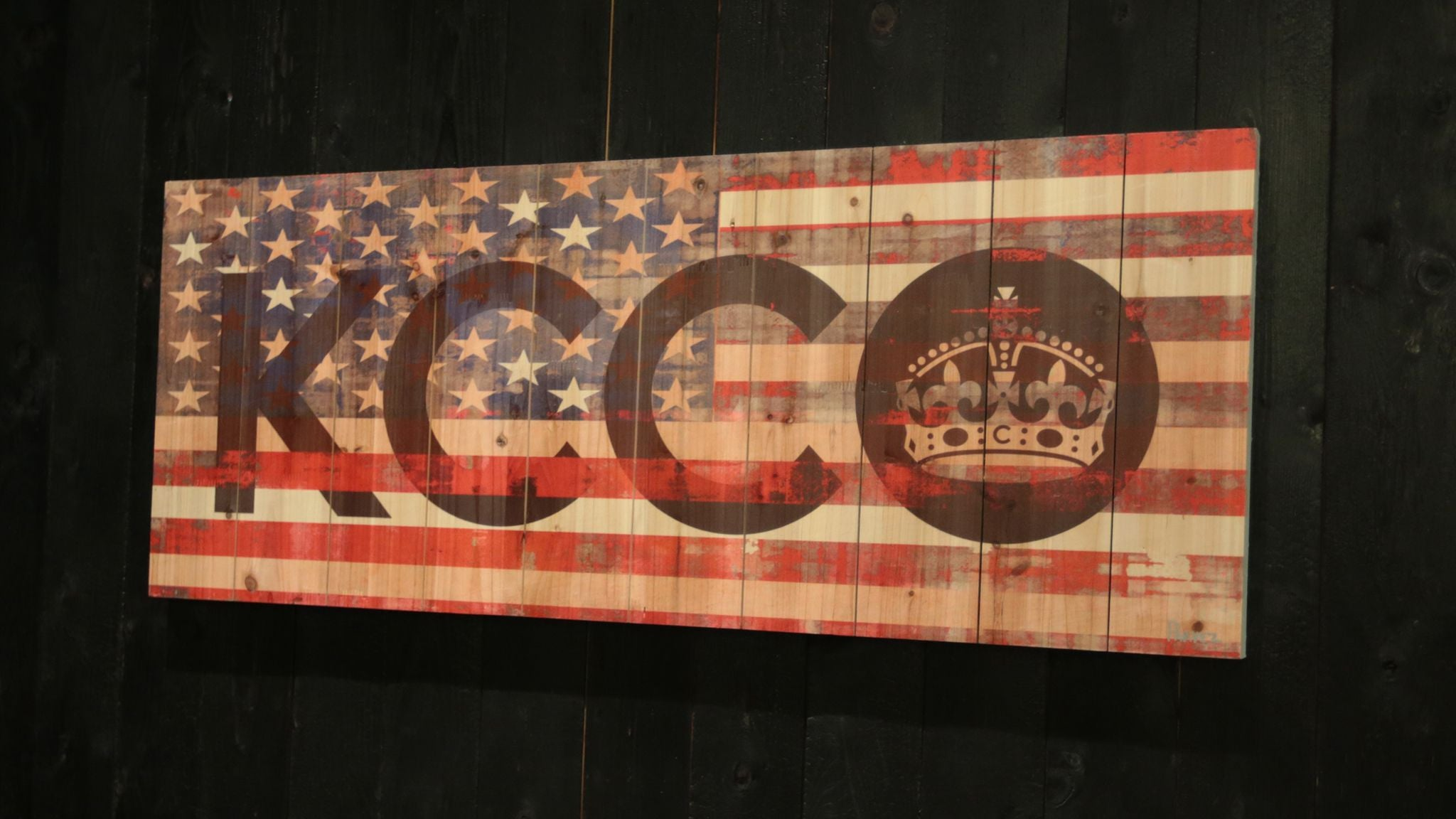 Kcco American Flag 20 Quot X 50 Quot Wood Art The Chivery