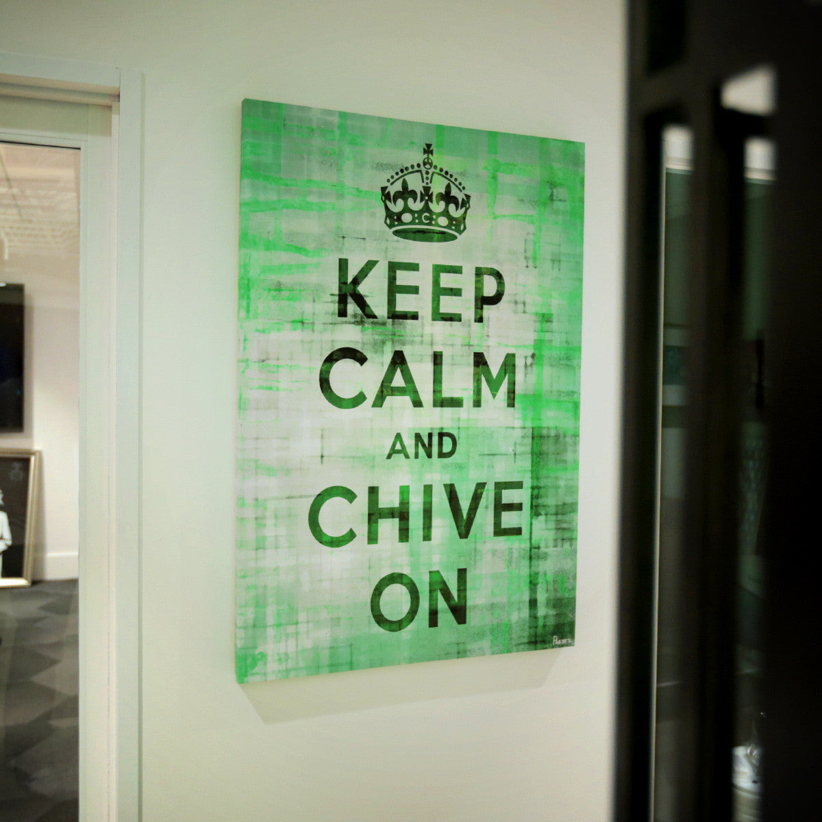 Keep Calm And Chive On 45 Quot X 30 Quot Canvas Art The Chivery