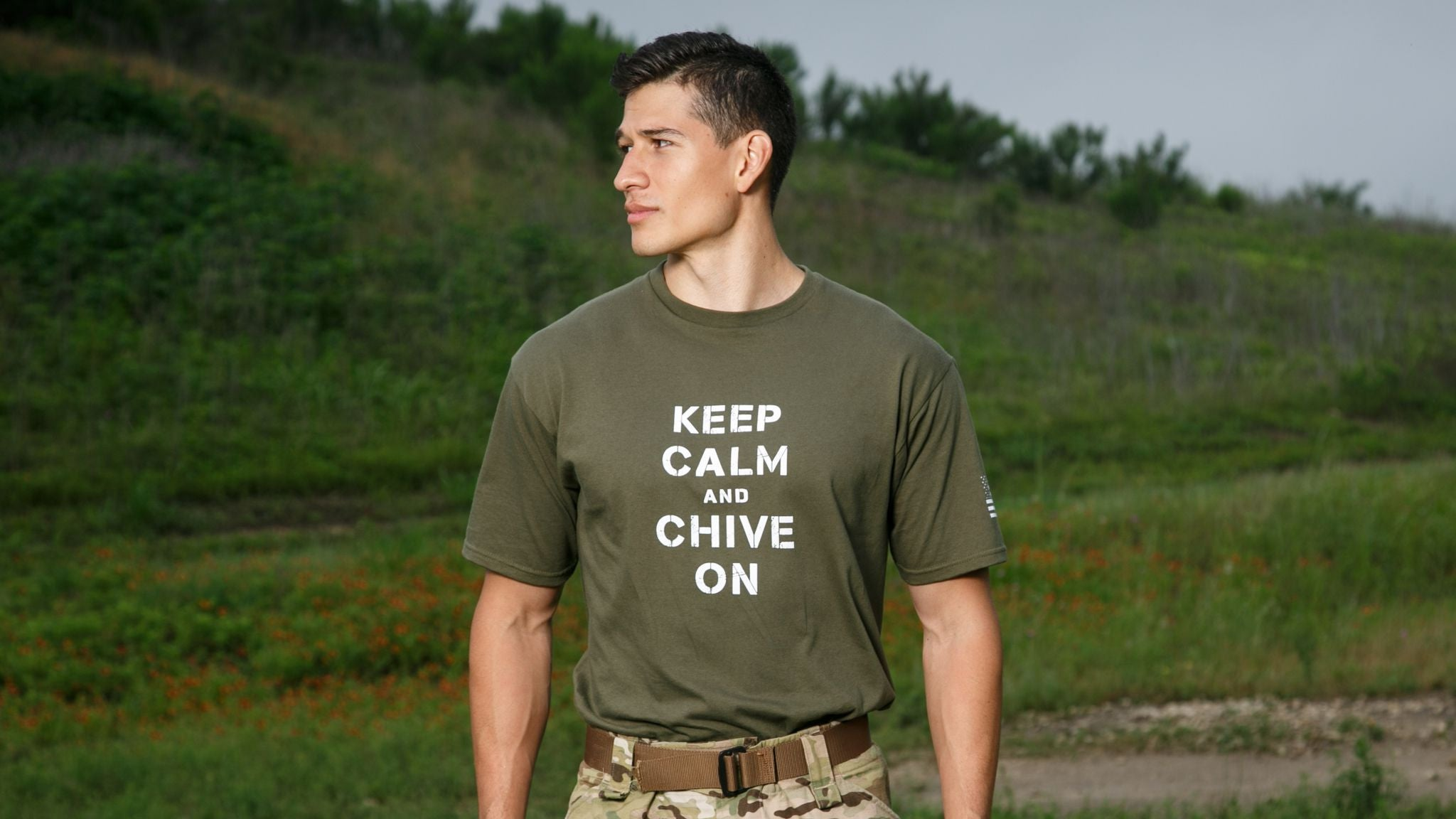 Calm and military on meaning Keep chive