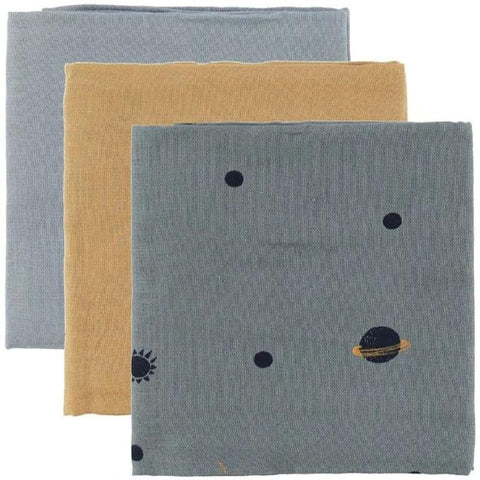 Ferm Living Organic Muslin Squares - Set of 3 - Moon