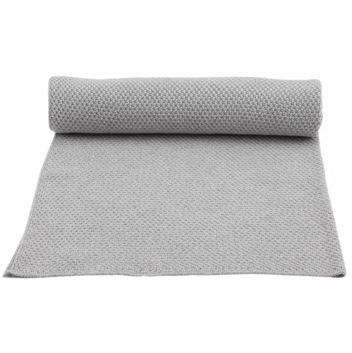 Konges Slojd Organic Blanket New Stitch – Grey Melange