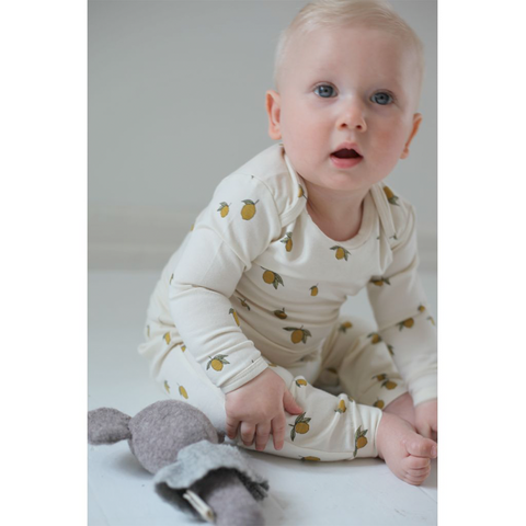 Konges Slojd Organic Hygsoft Onesie - Lemon