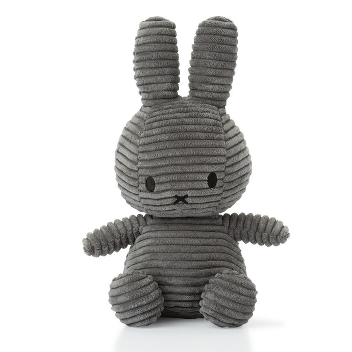 Miffy Corduroy Soft Toy - 24cm Grey | Soren's House