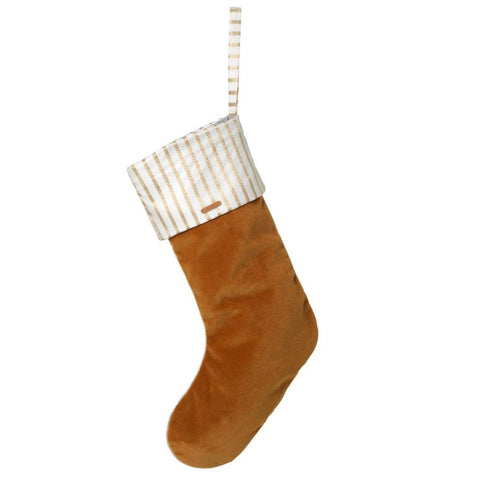 Ferm Living Christmas Velvet Stocking - Mustard