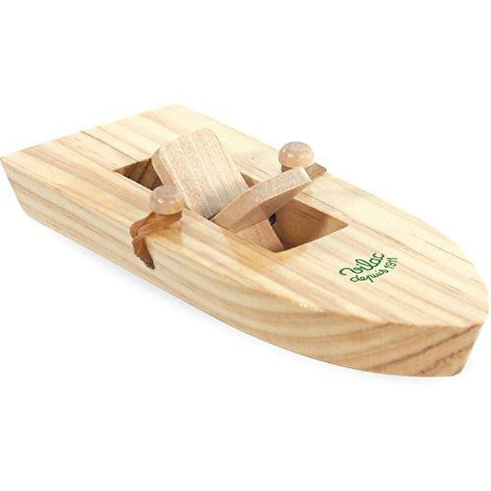 Vilac Wooden Rubber Band Powered Speed Boat
