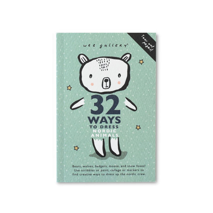 Wee Gallery 32 Ways to Dress Nordic Animals Activity Book