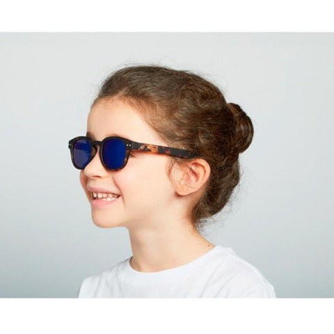 IZIPIZI #C Sun Junior Kids Sunglasses - Tortoise Mirror (5-10 Yrs)