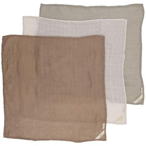 Konges Slojd 3-Pack Organic Muslin Cloths - Rose Dust | Soren's House