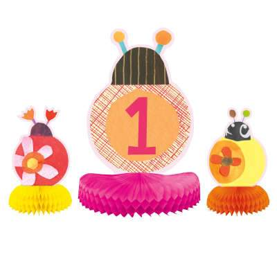 Centerpiece Decorations 3 Pack - Ladybug 1st Birthday