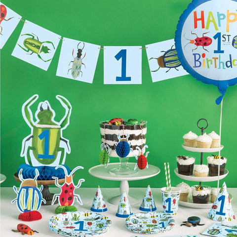 Paper Napkins 16 Pack - Bug 1st Birthday