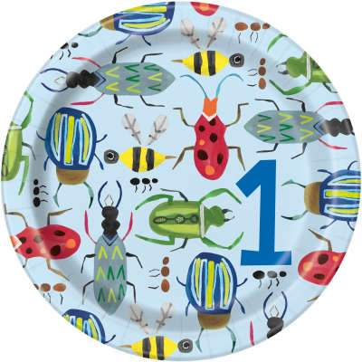 Paper Plates 8 Pack - Bug 1st Birthday 7