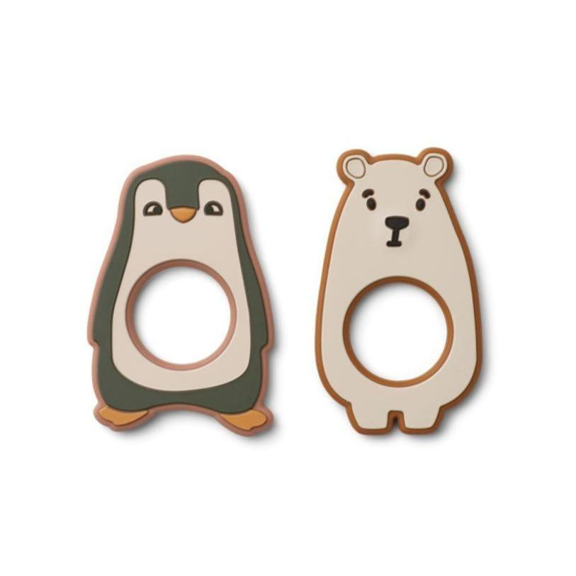 Liewood Gili Teether - 2 Pack - Hunter Green Multi Mix