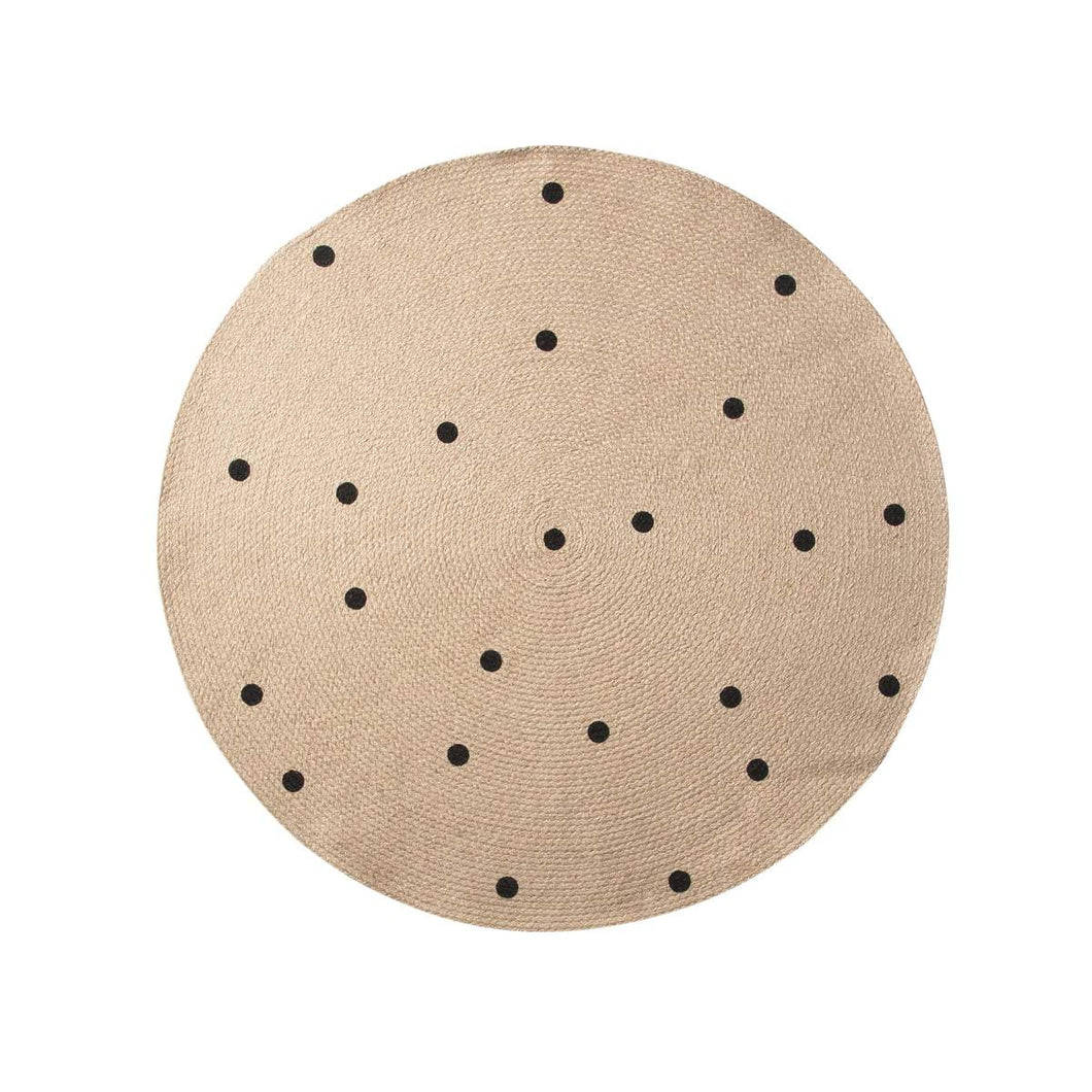Ferm Living Jute Rug - Black Dots