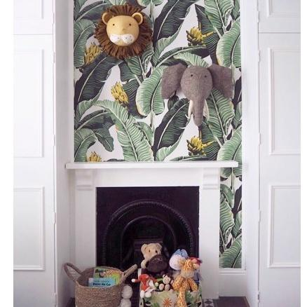 Fiona Walker Large Elephant With Tusks Felt Animal Wall Head
