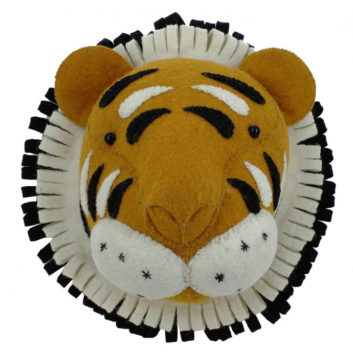 Fiona Walker Tiger Felt Animal Wall Head - Large