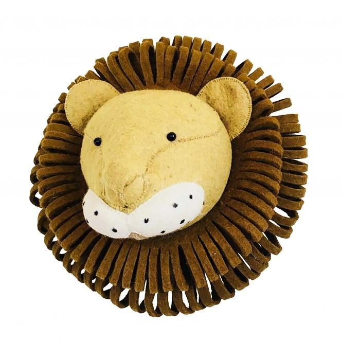 Fiona Walker Lion Felt Animal Wall Head - Large