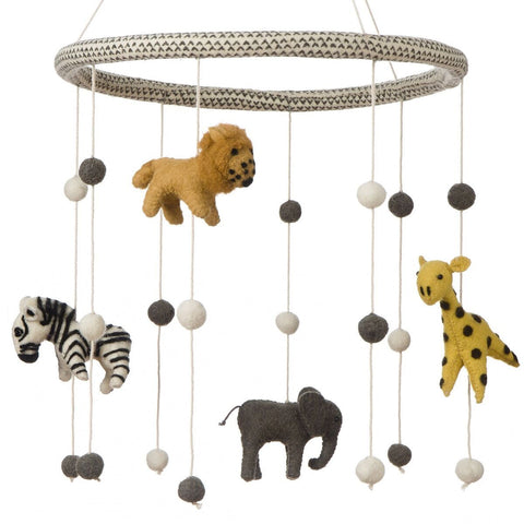 Fiona Walker Felt Jungle Animals Mobile