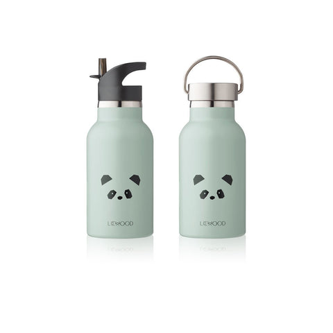 Liewood Anker Steel Water Bottle - Panda Dusty Mint | Drinking Bottles