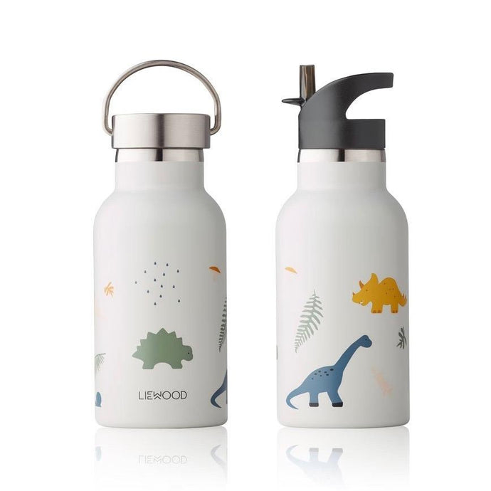 Liewood Anker Steel Water Bottle - Dino Mix | Drinking Bottles