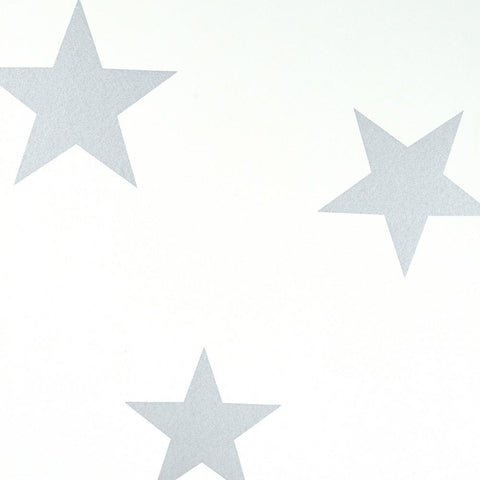 Hibou Home Wallpaper - Silver/White Stars
