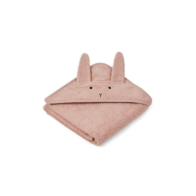 Liewood Organic Albert Hooded Baby Towel - Rabbit Rose | Hooded Towels