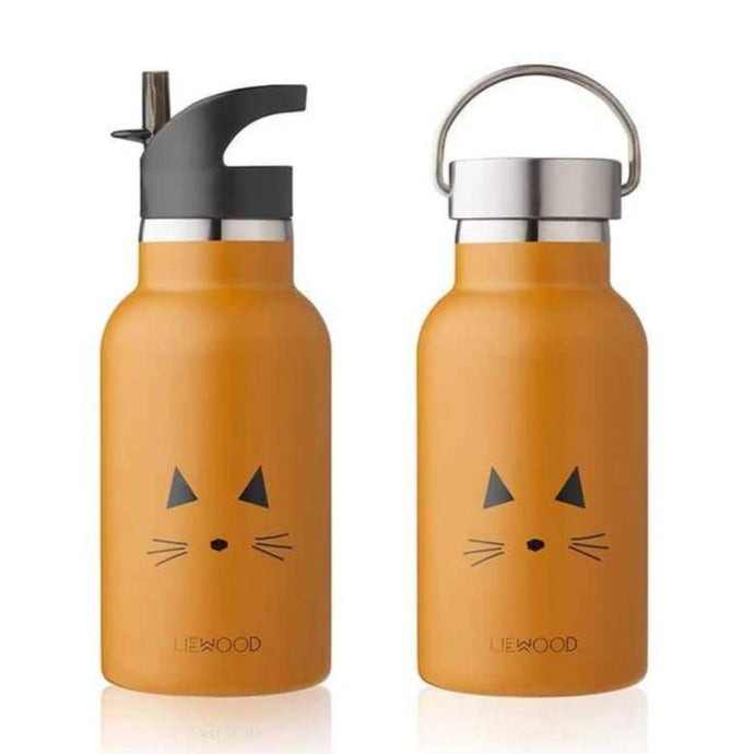 Liewood Anker Steel Water Bottle - Cat Mustard