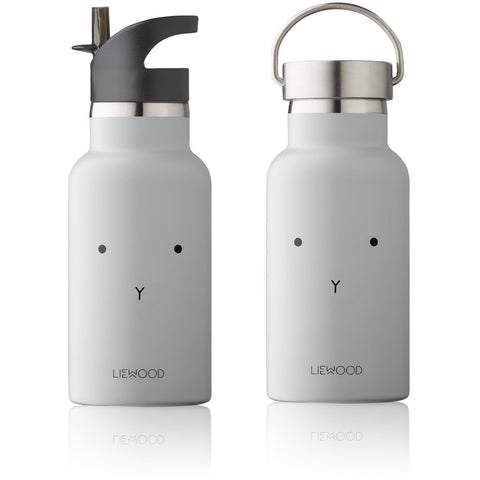 Liewood Anker Steel Water Bottle - Rabbit Dumbo Grey | Drinking Bottle