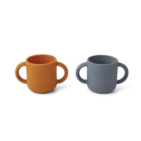 Liewood Gene Silicone Cup 2-Pack - Rabbit Blue Wave