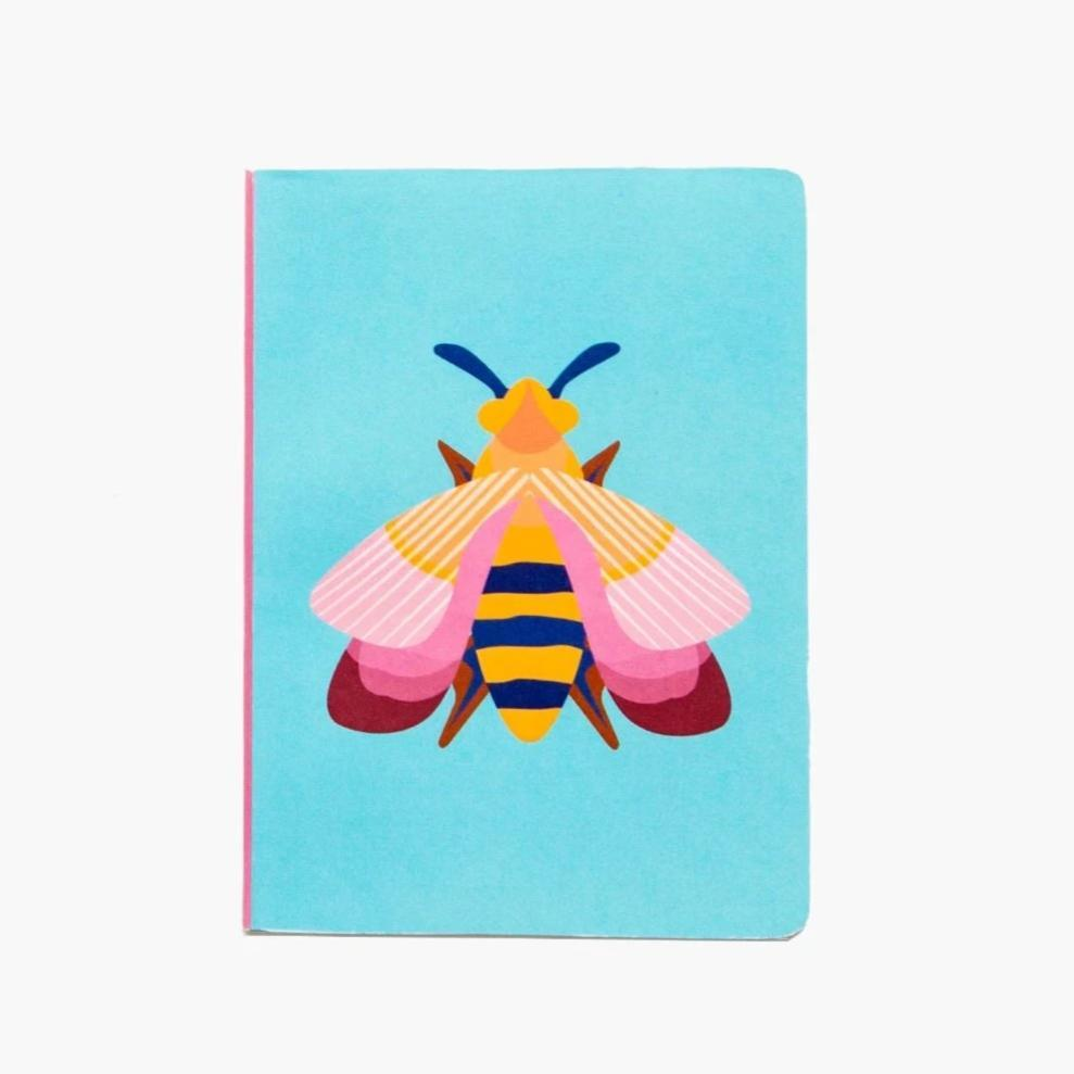 Studio Roof A6 Notebook - Pink Bee