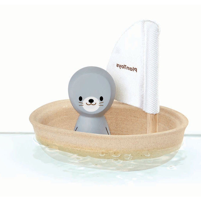 Plan Toys Sailing Boat Bath Toy - Seal