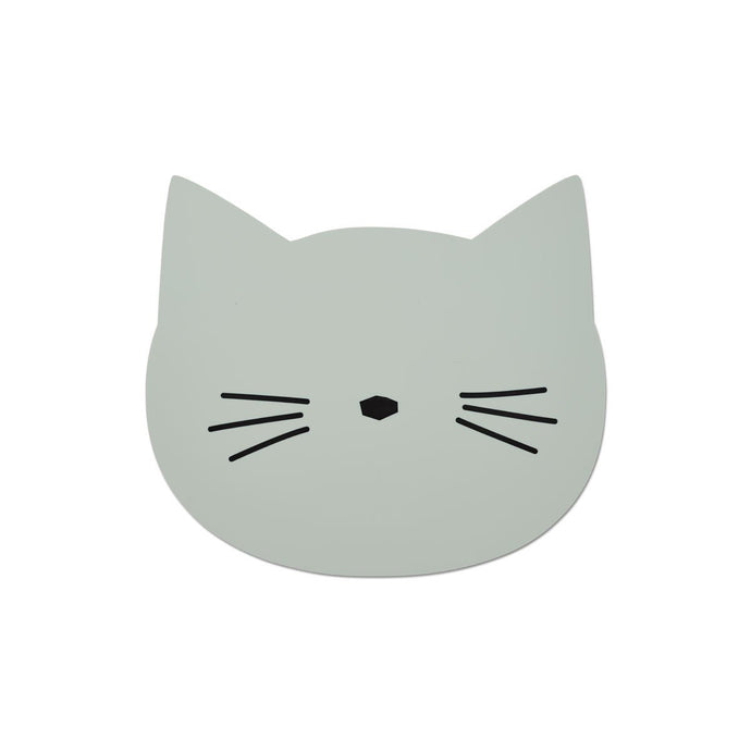 Liewood Aura Placemat - Cat Dusty Mint | Children's Placemats