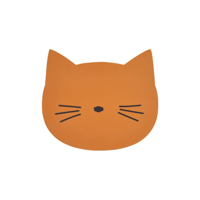 Liewood Aura Placemat - Cat Dusty Mustard | Children's Placemats