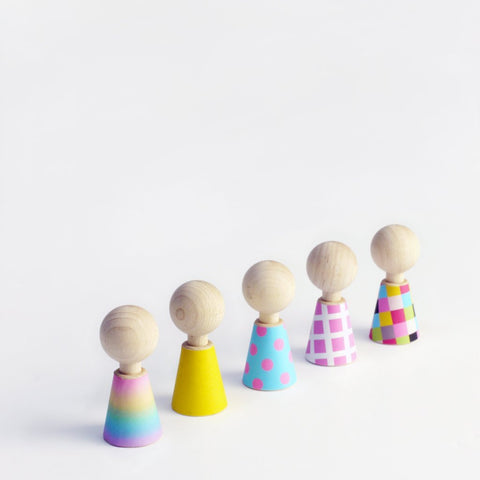 Colour Pebbles Wooden Dolls by Rock & Pebble | Soren's House