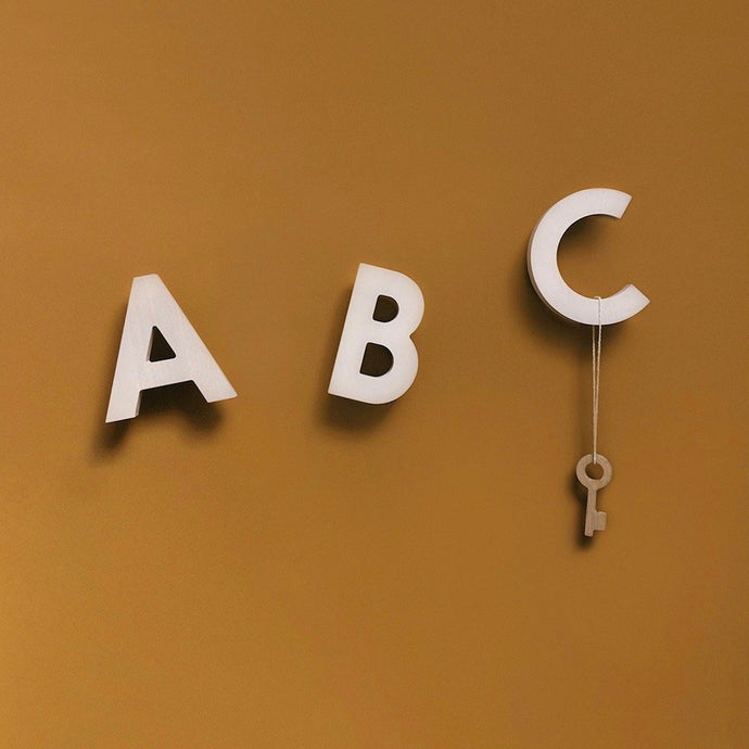 Alphabet Soup Wall Hooks by Rock & Pebble - Natural | Rock & Pebble