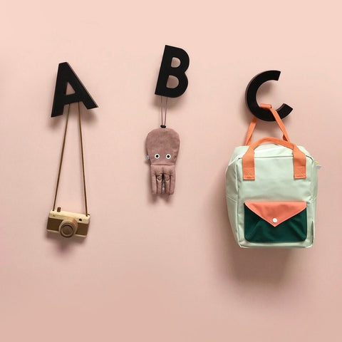 Alphabet Soup Wall Hooks by Rock & Pebble - Black | Rock & Pebble
