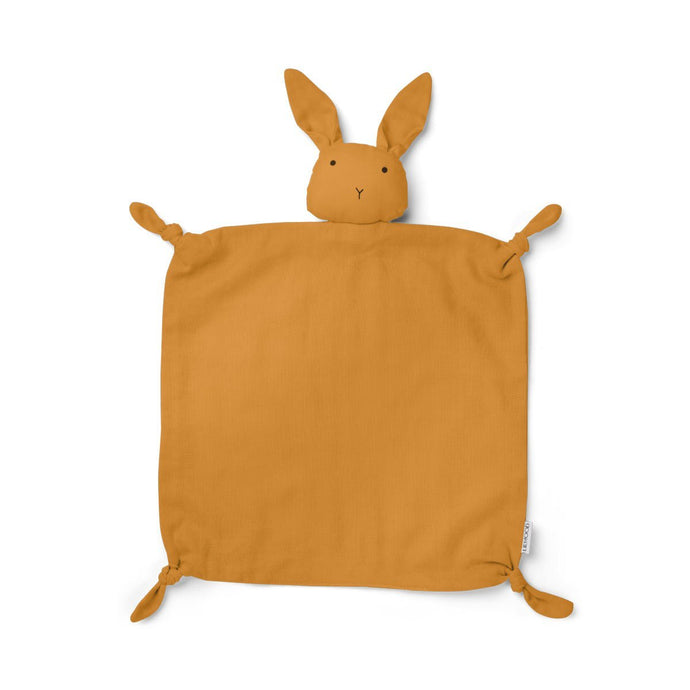 Liewood Agnete Organic Cuddle Cloth - Rabbit Mustard