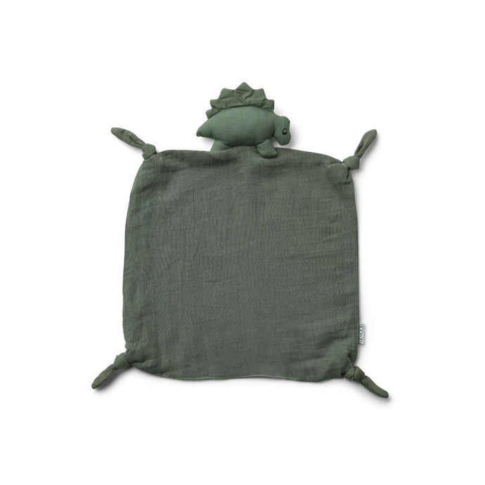 Liewood Agnete Organic Cuddle Cloth - Dino Faune Green