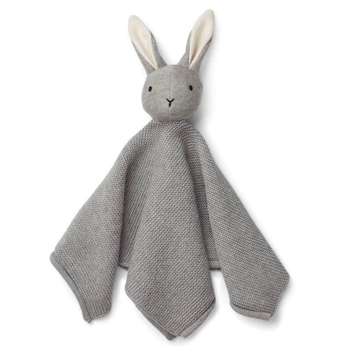 Liewood Milo Knit Organic Cuddle Cloth - Rabbit Grey Melange