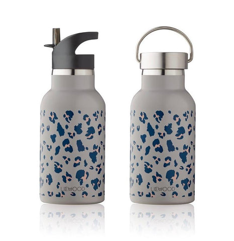 Liewood Anker Steel Water Bottle - Leo Warm Grey | Drinking Bottles