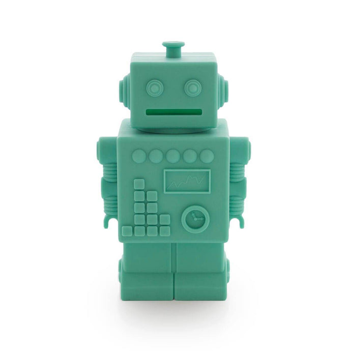Robot Silicone Money Box by KG Design - Aqua