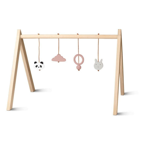 Liewood Wooden Baby Play Gym with Accessories - Rose