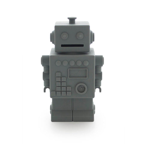 Robot Silicone Money Box by KG Design - Dark Grey