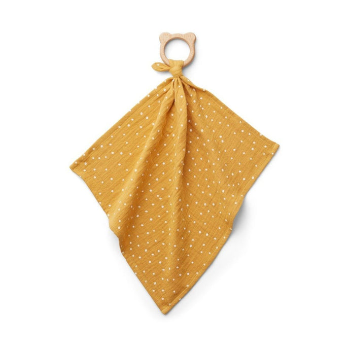 Liewood Dines Teether Cuddle Cloth - Confetti Yellow Mellow