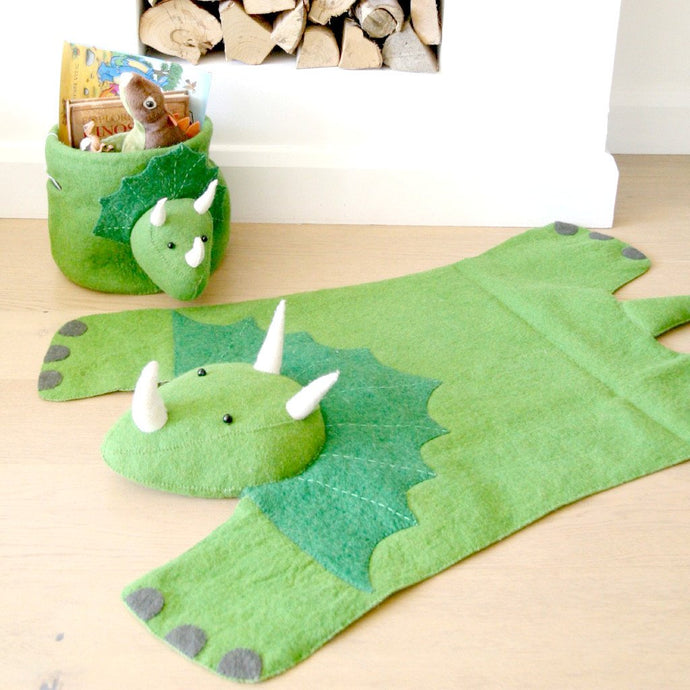 Fiona Walker Felt Animal Rug - Triceratops | Soren's House